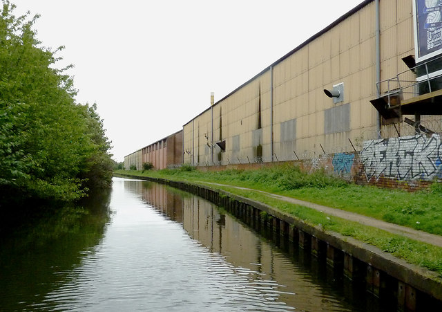 Canalside factories near Birches Green, Birmingham