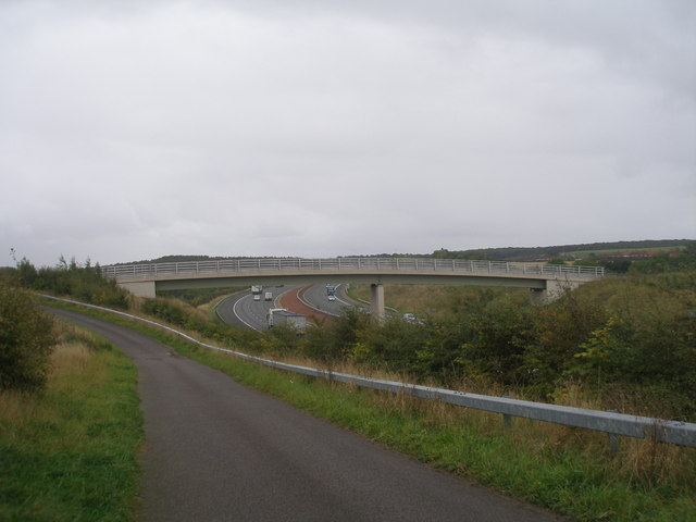 Footbridge over the motorway at Micklefield