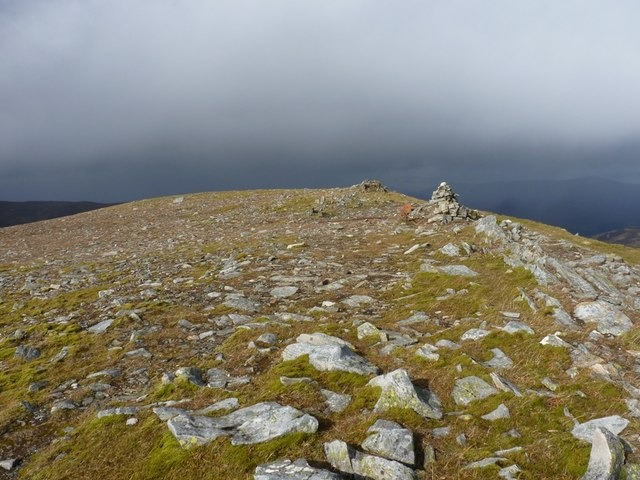 A cairn on the summit ridge of Craig an Daimh