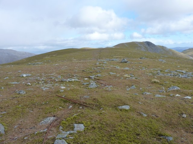 East along the ridge of Meall a' Bhàrr