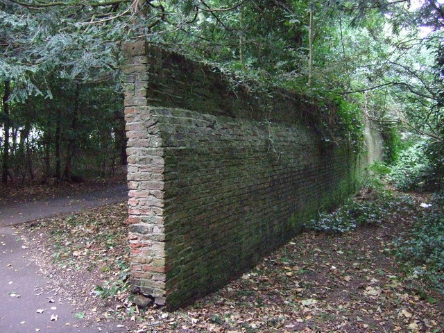 Old wall, Sewerby Hall Gardens