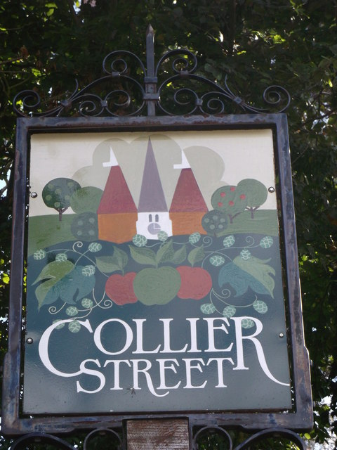 Collier Street Village sign (close-up)