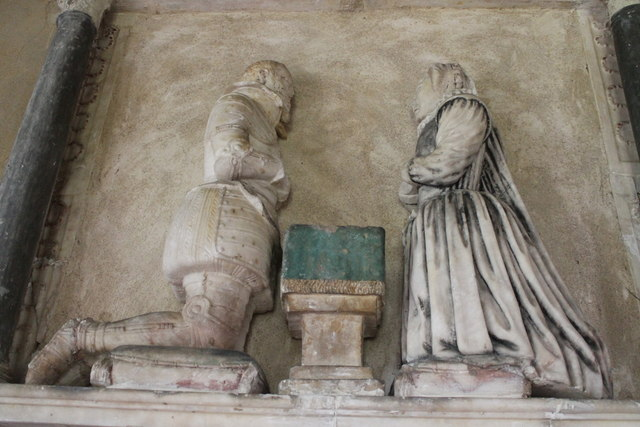Sir Charles Dymoke & wife, St Oswald's church, Howell