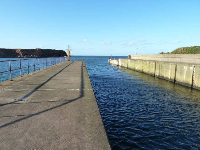 Eyemouth Harbour entrance
