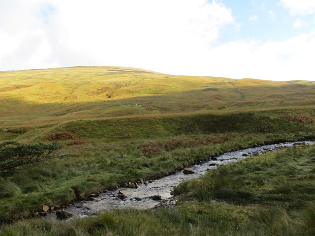 Leavanin Burn and the lower slopes of Cruach na Cioba