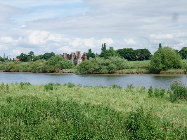 Torksey Castle from the Trent Valley Way