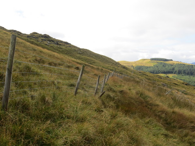 Fence line below Carnach Mor