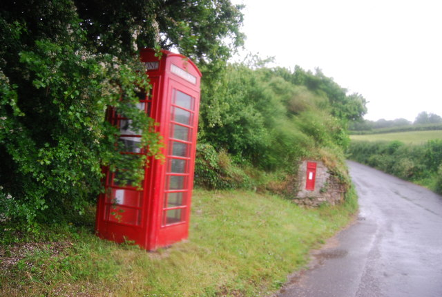 Telephone and postbox, Ford