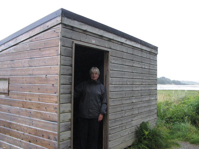 Bird hide in Ards Forest Park