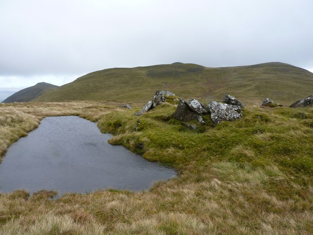 A small pool on Meall Liath