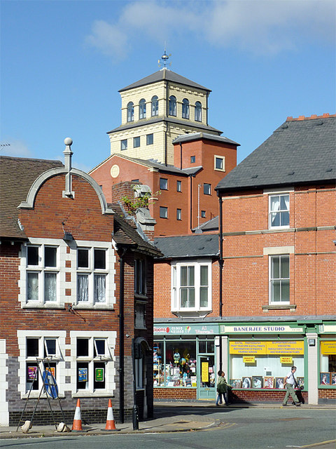 The corner of Pitt Street, Wolverhampton