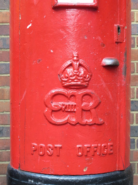 Edward VIII postbox, Week Street, ME14 - royal cipher