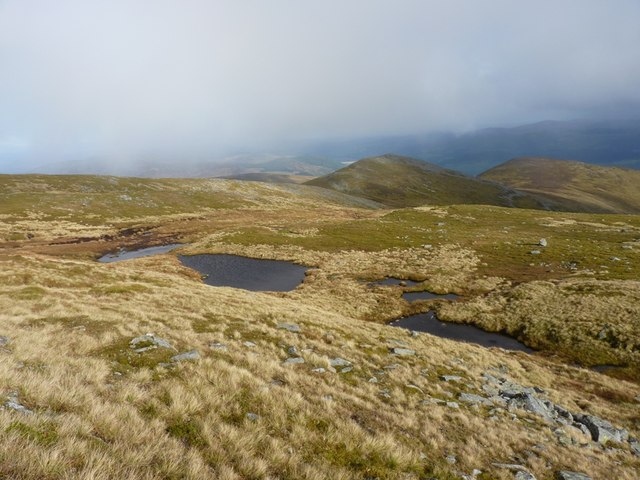 Hilltop lochans on Meall na Aighean