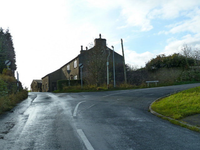 Junction of Whitemoor Road, Standing Stone Lane and Barnoldswick Road