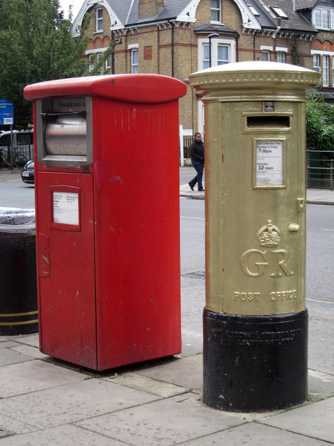 Charlotte Dujardin's Gold Post Box