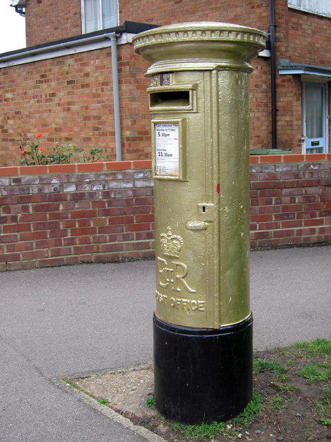 Laura Trott's Gold Post Box