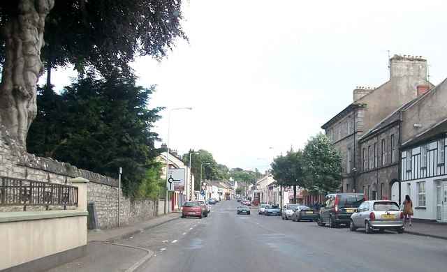 The northern section of Lisnaskea's Main Street