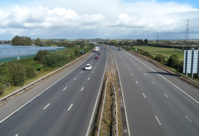 M5 motorway north of Westonzoyland Road, Bridgwater