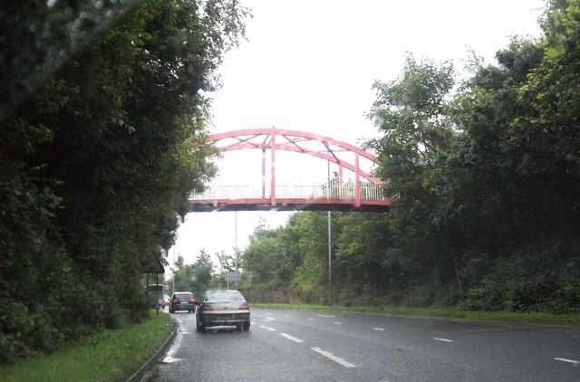 Footbridge over the A5 (Great Northern Road) at Omagh