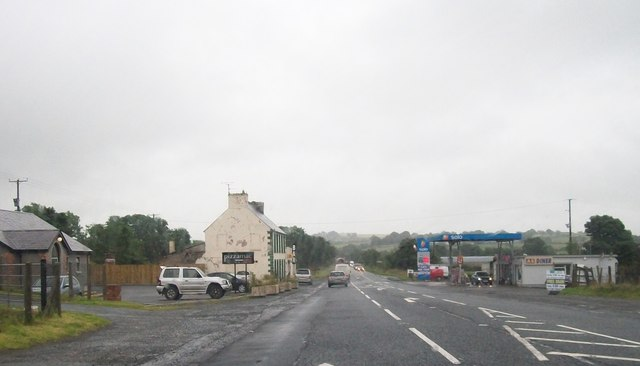 Pizzamac and Solo Filling Station at the junction of A5 (Curr Road) and the Greenmount Road
