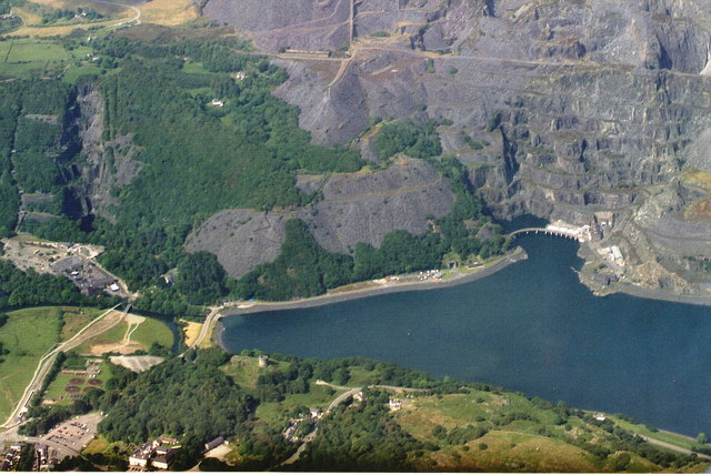Electric Mountain: Dinorwig, aerial 2003