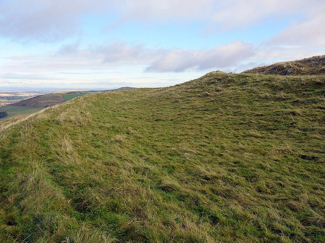 West ramparts of Green Humbleton hillfort