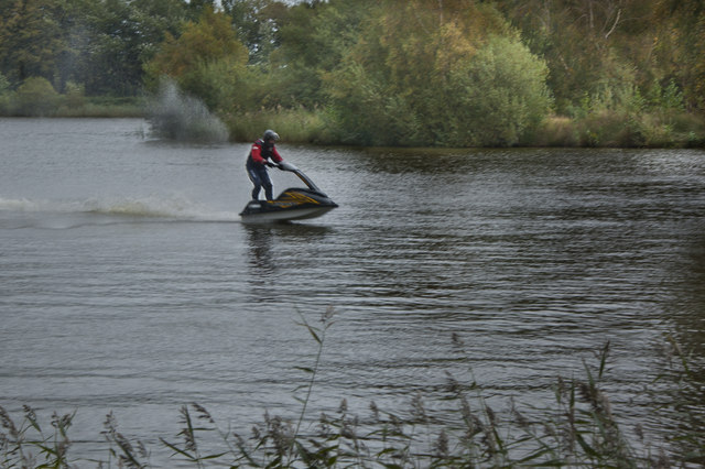 Jet ski-ing at the Leisure Lakes