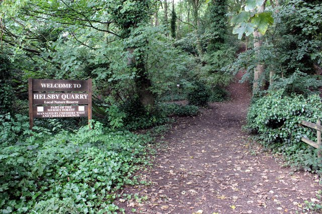 Entrance to Helsby Quarry Nature Reserve