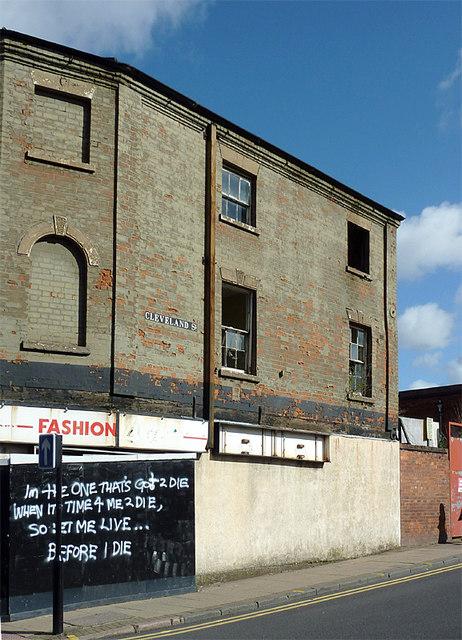 Derelict shop in Cleveland Street, Wolverhampton
