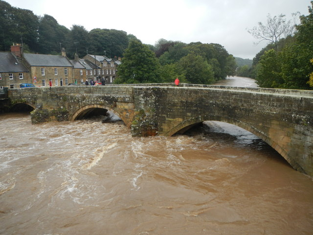 Floods 2008, River Coquet