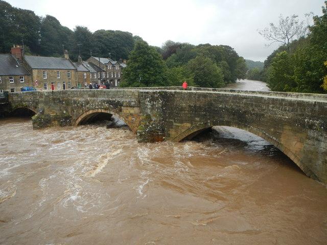 Floods 2008, River Coquet