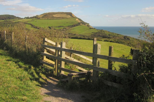 Stile by the coast path