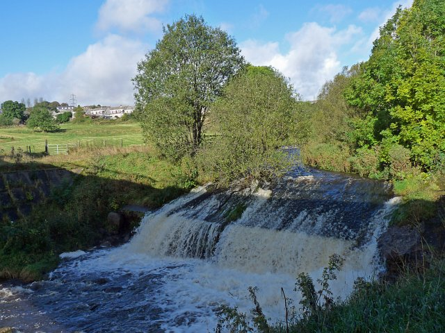 A weir on the River Sirhowy