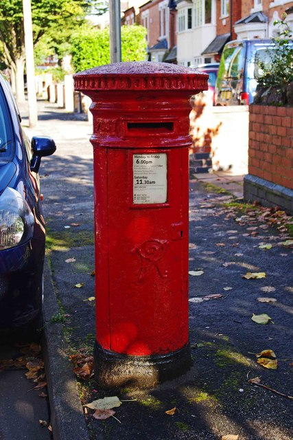 Queen Victoria postbox, Shrubbery Avenue, Worcester