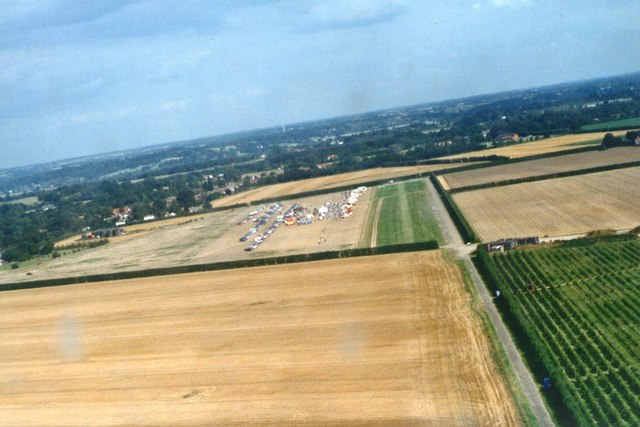 Landing at the Boxted fly-in 2002