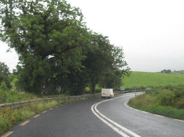 Bend in the N2 south of Mullabrack Scott