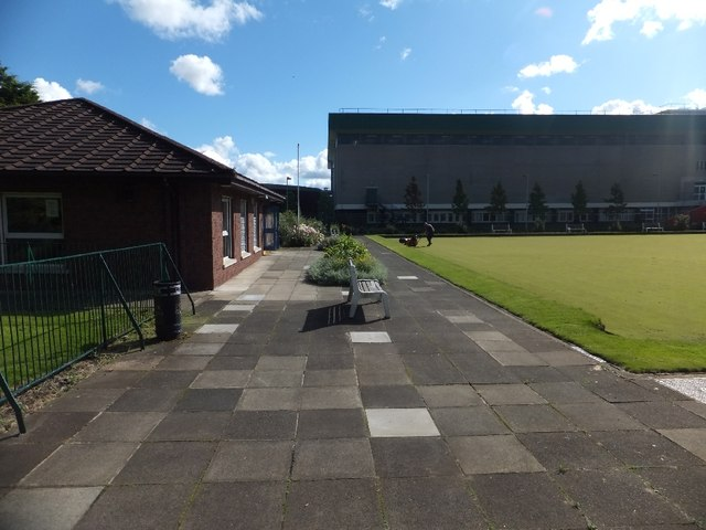 The Botanic Gardens bowling green and clubhouse