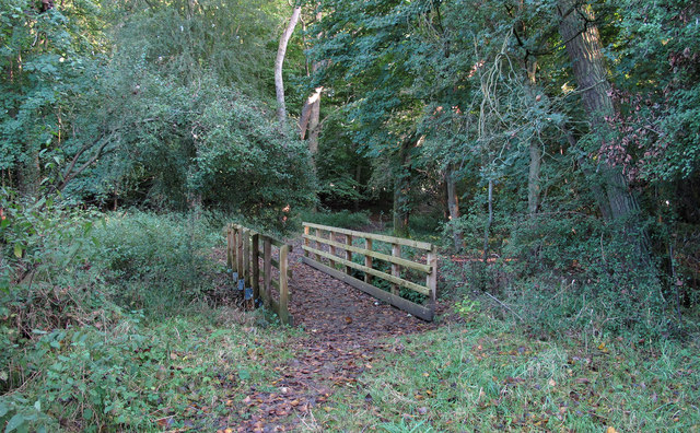 Footbridge over Cobbin's Brook in Brookmeadow Wood