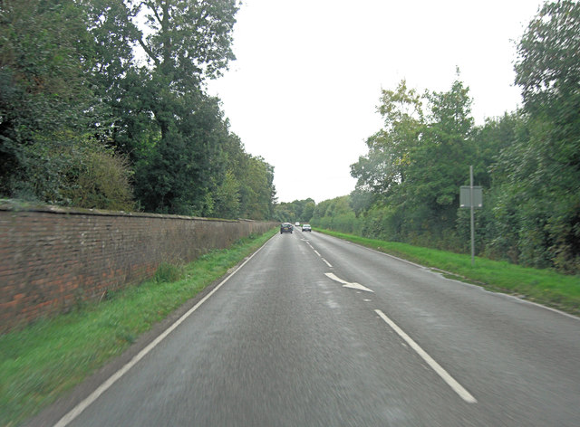 A27 beside the 'Mile Wall'