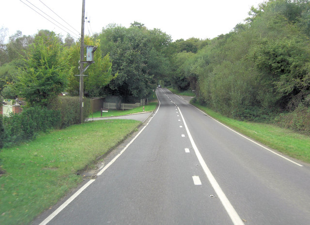 A27 approaches junction with Newtown Road