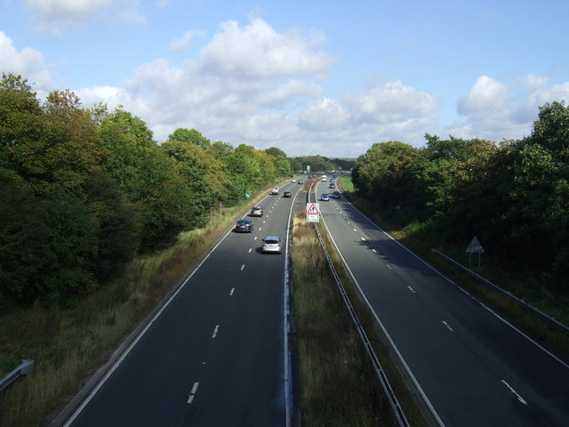The northbound A46