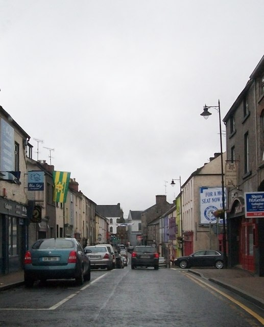 The lower end of Glaslough Street, Monaghan