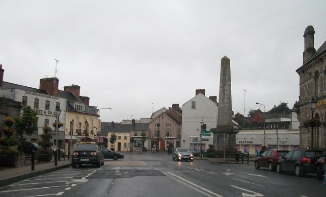 The Dawson Monument in Church Square, Monaghan