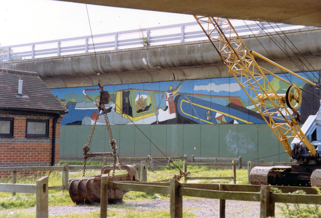 Mural, Horninglow Wharf, Trent and Mersey Canal