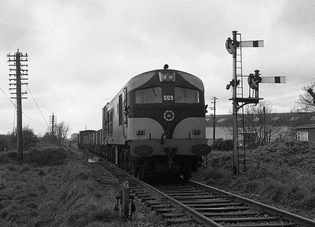 Freight train approaching Midleton