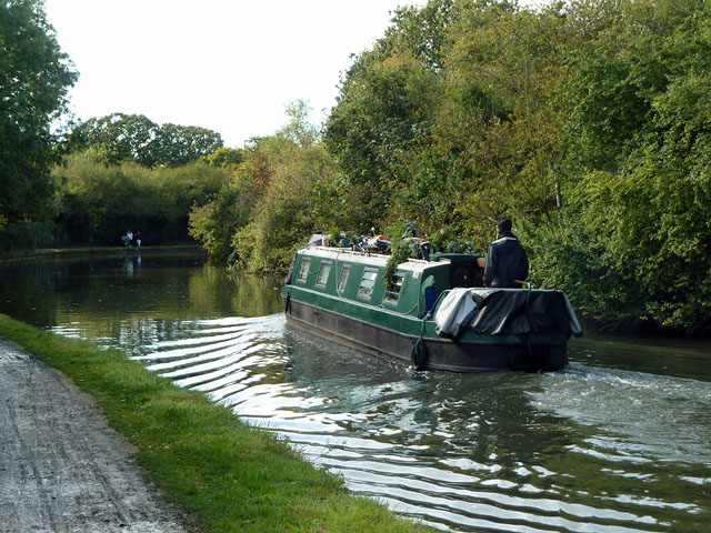 Boat on Grand Union Canal