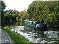 TQ1683 : Boat on Grand Union Canal by Robin Webster