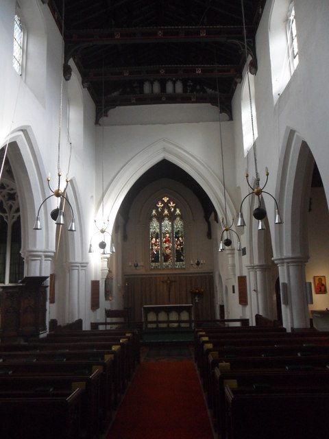 Interior of St Bene't's, Cambridge