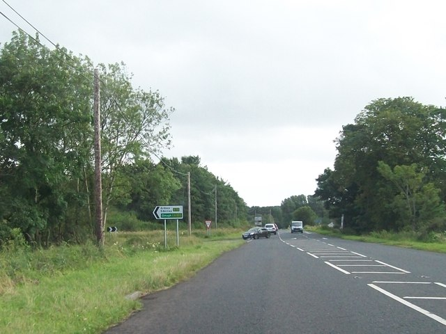 The junction of the B82 and the B72 north of Glenkeen