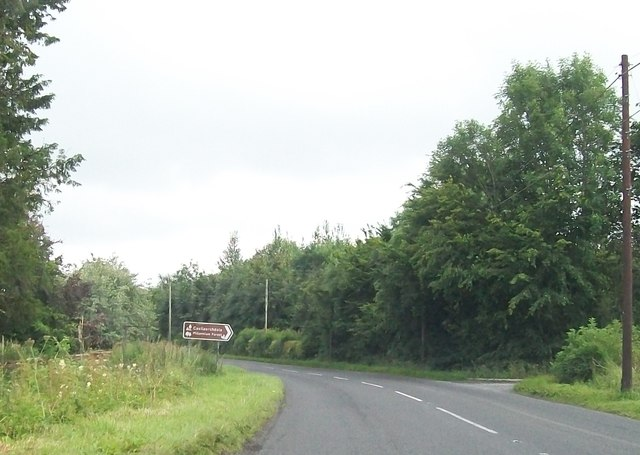 The B82 at the entrance to the Castlearchdale Millennium Park